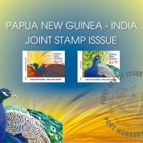 PAPUA NEW GUINEA - INDIA JOINT STAMP ISSUE
